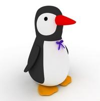 pinguin cartoon character 3d max
