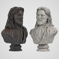 3d model jesus bust