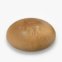 realistic white wheat bread 3d model