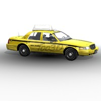 3d model of crown victoria yellow cab