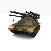 3d model m50 ontos tank