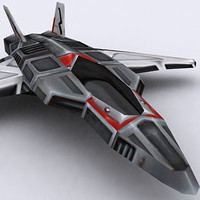 3ds max sci-fi fighter