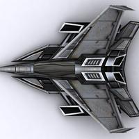 3d sci-fi fighter