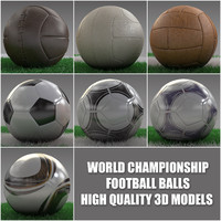 world championship football balls 3d model