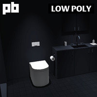 3d private bathroom pack 1 model