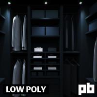 wardrobe closet pack 3d obj