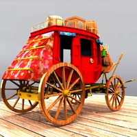 3d model stagecoach stage coach