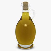 3d olive oil bottle model