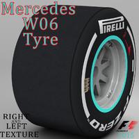 3d pirelli tyre w06 model
