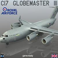 3d model c-17 globemaster iii royal