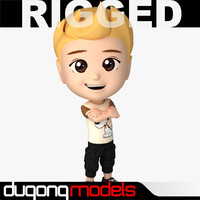 3d model dugm06 rigged cartoon boy