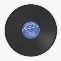3d gramophone vinyl disc
