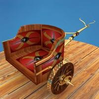 roman war chariot 3d model