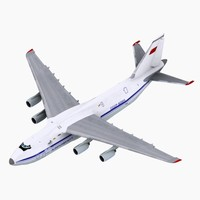 3d model antonov an124 aeroflot