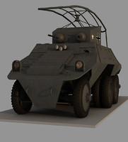 adgz m35 spahwagen 3d model