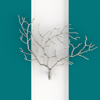 Metal Tree Branch Wall Sculpture