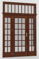 3d model french door