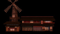 japanese old tradition house 3d model