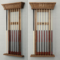 BRUNSWICK VINTAGE BILLIARDS TABLE CUE RACK