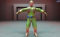 3d sci fi soldier model