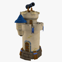 3d model tower games