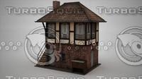 house siding 3d max
