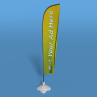 3d model advertising flag