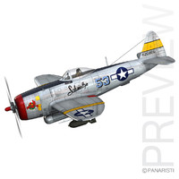 3d model of republic p-47 thunderbolt -