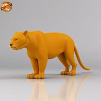 3ds max tiger cat