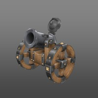 3d cannon hand painted