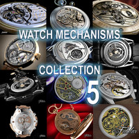 watch mechanisms 5 3d model