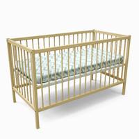 simple crib 3d model