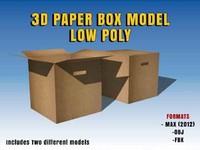 3d shipping box model