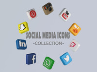 3d media icons