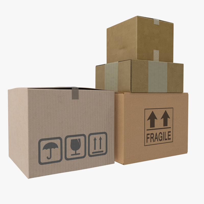 Cardboard Boxes Collection 3d models 00.jpg