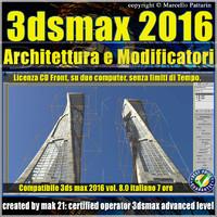 3ds max 2016 Architettura e Modificatori vol.8_cd front