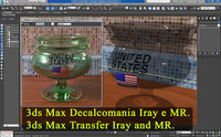 3ds Max Materiale Decalcomania Iray e Mental Ray.