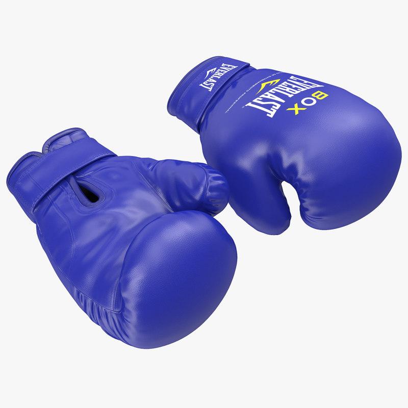 3d model of Boxing Gloves Everlast Blue 00.jpg