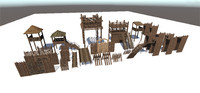 maya medieval wooden fortification