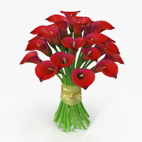 3d max bouquet calla flowers