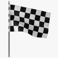 racing flag 5 3d model