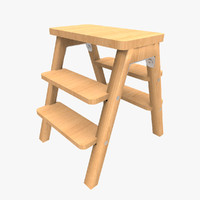 fbx wooden step ladder