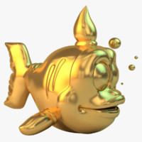 golden ish 3d model
