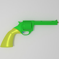 3d model of toy gun