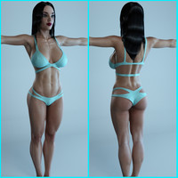 3d fitness female character