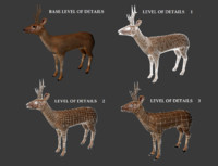 3d roe deer