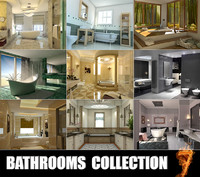 3d bathrooms scenes