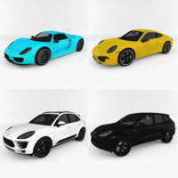 porsche car pack 3d 3ds