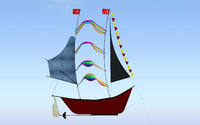 ship kite 3d 3ds