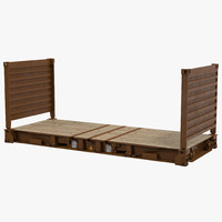 3dsmax flat rack container brown